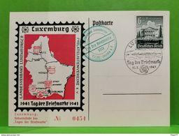 Postkarte, Luxemburg 1941, Tages Der Briefmarke - Herdenkingskaarten