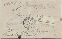 1919 POSTA MILITARE/112 C.2 (14.3) Su Piego Raccomandato - 1900-44 Vittorio Emanuele III