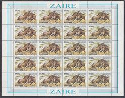B0041 ZAIRE 1984, SG 1177 Garamba National Park, Warthogs,  MNH   Full Sheet - 1980-89: Oblitérés