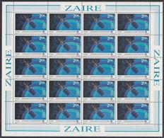 C0241 ZAIRE 1983, SG 1167  2.05Z ITU Conference De Plenipotentiaires, MNH Complete Sheet - 1980-89: Oblitérés