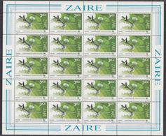 C0262 ZAIRE 1983, SG 1168  3.60Z ITU Conference De Plenipotentiaires, MNH Complete Sheet - 1980-89: Oblitérés