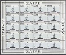 C0336 ZAIRE 1983, SG 1158 1Z Monuments,  MNH Complete Sheet - 1980-89: Oblitérés