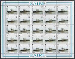 C0360 ZAIRE 1983, SG 1162 10Z Monuments,  MNH Complete Sheet - 1980-89: Oblitérés