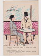 Cpa Fantaisie Dessinée Signée Jam / Dans Un Café , 2 Hommes Discutant Du Service Civil - Künstlerkarten