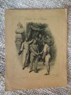 RARE PROGRAMME DE LA SEANCE D'ESCRIME DE 1895 - AU PALAIS DE L' ELYSEE - PRESIDENCE GENERAL GERVAIS - ILL. F. REGAMEY - Escrime