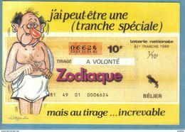 Carte Postale Illustrateur Alexandre Humour Sexy Loterie Nationale Zodiaque Bélier    Très Beau Plan - Alexandre