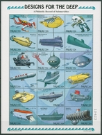 Palau 1995 Tauchgeräte Tauchfahrzeuge 919/36 ZD-Bogen Postfrisch (SG29057) - Palau