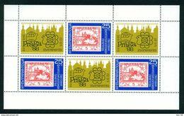 BULGARIEN MI-NR. 3696 A GESTEMPELT(USED) KLEINBOGEN PRAGA '88 - Blokken & Velletjes