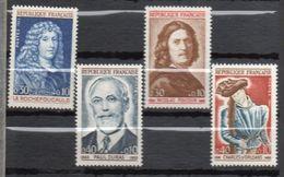 1965 -- Tps N° 1442 à 1545 ( 4 Valeurs)--Personnes Célèbres - NEUFS ** --gomme Intacte--cote 2.20€  ....... - France