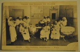 75 Paris Union Des Femmes De France Creche 122 Faubourg Saint Martin ( Cornure Coin Bas Droit ) - District 10