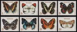 Ruanda 1979 - Mi-Nr. 974-981 A ** - MNH - Schmetterlinge / Butterfly - 1970-79: Neufs