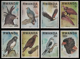 Ruanda 1977 - Mi-Nr. 893-900 A ** - MNH - Vögel / Birds - 1970-79: Mint/hinged
