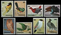Ruanda 1980 - Mi-Nr. 1019-1026 ** - MNH - Vögel / Birds - 1970-79: Mint/hinged
