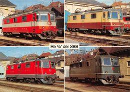 Schweizerische Bundesbahnen SBB-CFF-FFS -  Re 4/4 - Treinen