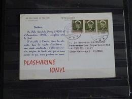 Groenland - 1958 - Publicité Plasmarine Serie Du Pole Nord Au Pole Sud - Carte Du Voyage - Brieven En Documenten
