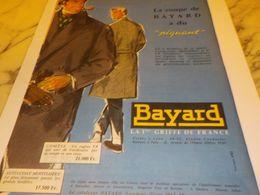 ANCIENNE PUBLICITE LA COUPE  BAYARD 1957 - Vintage Clothes & Linen