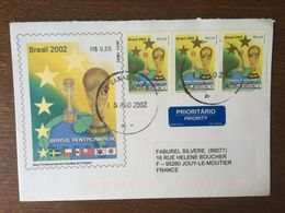 BRESIL 2002 FDC PREMIER JOUR COUPE DU MONDE DE FOOTBALL 2779 - FDC
