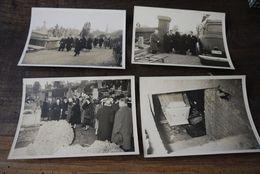 Begrafenis Cortege Funebre Wauthier Braine 1956 9 Foto's - Historical Documents