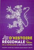 SALON COLLECTION - SALON Du LIVRE D'HISTOIRE REGIONALE & Généalogie - 59 - PHALEMPLIN (08/09/2013) CPSM GF - Nord - Bourses & Salons De Collections