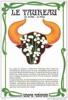 Carte Postale De La  Loterie Nationale Astrologie Horoscope  Taureau  Trés Beau Plan - Astrology