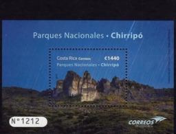 Costa Rica National Parks Chirripó, Slug, Snail, Crestones, Souvenir Sheet MNH 2019 - Costa Rica