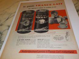 ANCIENNE PUBLICITE GRANULES  FRANCE LAIT 1958 - Affiches