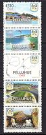 2015 Chile Pelluhue Football Stadium Map Tourism Complete Strip Of 5  MNH - Chile
