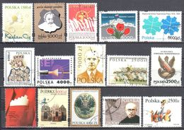 Poland 1994 - Single Stamps From Year 1994 - 15v - Used - 1944-.... Republic