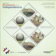 COSTA RICA BICENTENNIAL INDEPENDENCE,NATL THEATER,CRESTONES,SPHERES, MNH 2019 - Costa Rica