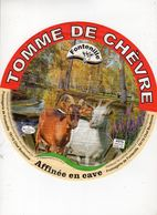 Juin20  55014    étiquette  Fromage Grand Format  Tomme De Chèvre   Fontenille - Cheese