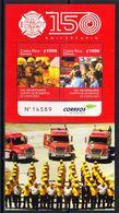 2015 Costa Rica Fire Brigade Trucks Firemen Miniature Sheet Of 2  MNH - Costa Rica