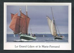 CPM - Voiliers De Pêche Le Grand-Léjon, Lougre Du Légué (Saint Brieuc) Et Marie-Fernand, Côtre Pilote Du Havre - Pêche
