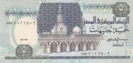 EGYPT 5 EGP POUNDS 1995 P-59 SIG/ ISMAIL HASSAN #19 UNC  */* - Egypte