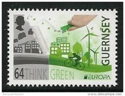 """GUERNSEY - EUROPA 2016 - TEMA ANUAL """"ECOLOGIA -EL PENSAMIENTO VERDE -THINK GREEN"""".- SERIE De 1 V. - 2016"""