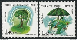 "TURQUIA/ TURKEY/ TÜRKEI -TEMA ""ECOLOGIA -EL PENSAMIENTO VERDE -THINK GREEN"".- Serie De 2 V. - 2016"