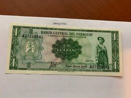Paraguay 1 Guarani Uncirc. Banknote 1952 - Paraguay