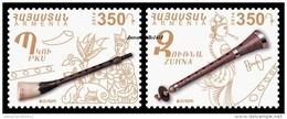 "ARMENIA / ARMENIEN -EUROPA 2014-TEMA ANUAL ""INSTRUMENTOS MUSICALES NACIONALES""- SERIE  2 V. - Europa-CEPT"