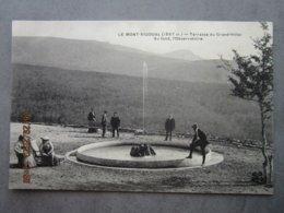 CPA 48 Meyrueis LE MONT AIGOUAL Le Bassin Avec Son Jet D'eau De La Terrasse Du Grand Hôtel Au Fond L'Observatoire 1910 - Meyrueis