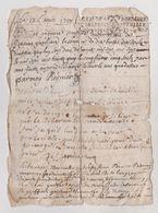 3 Actes De Reconnaissance Et Contestation De Dette 1708 à 1725 Cachets Généralité De Bordeaux à Déchiffrer - Documents Historiques