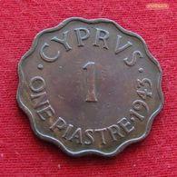 Cyprus 1 Piastre 1943 KM# 23a Chipre Zypern - Chipre