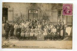 Tricoterie De Roche Lez Beaupré Un Groupe D'ouvrières - Altri Comuni