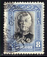 Malaya Johore 1940 KGV 8ct Blue & Black Used SG 130 ( 213 ) - Johore