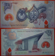 · MASK * PAPUA NEW GUINEA 5 KINA NEW UNC CRISP! NO RESERVE! - Papua Nuova Guinea