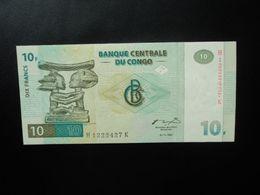 RÉPUBLIQUE DÉMOCATIQUE DU CONGO * : 10 FRANCS   1.11.1997   P 87B      Presque NEUF - Congo