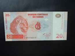RÉPUBLIQUE DÉMOCATIQUE DU CONGO * : 20 FRANCS   1.11.1997 (1998)   P 88A       NEUF - Democratic Republic Of The Congo & Zaire