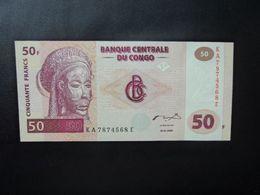 RÉPUBLIQUE DÉMOCATIQUE DU CONGO * : 50 FRANCS   4.1.2000     P 91A       NEUF - Democratic Republic Of The Congo & Zaire
