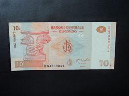 RÉPUBLIQUE DÉMOCATIQUE DU CONGO * : 10 FRANCS   30.6.2003     P 93a         NEUF - Democratic Republic Of The Congo & Zaire