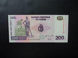RÉPUBLIQUE DÉMOCATIQUE DU CONGO * : 200 FRANCS   30.6.2000     P 95A         NEUF - Congo