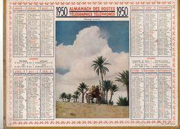 Calendrier Almanach Des Postes Télégraphes Téléphones De 1950Paysage Tunisien - Format : 21.5x29cm - Grand Format : 1941-60