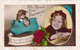 R384535 To Greet Your Birthday. Shirley Temple. Art Photo. RP. 1938 - Monde